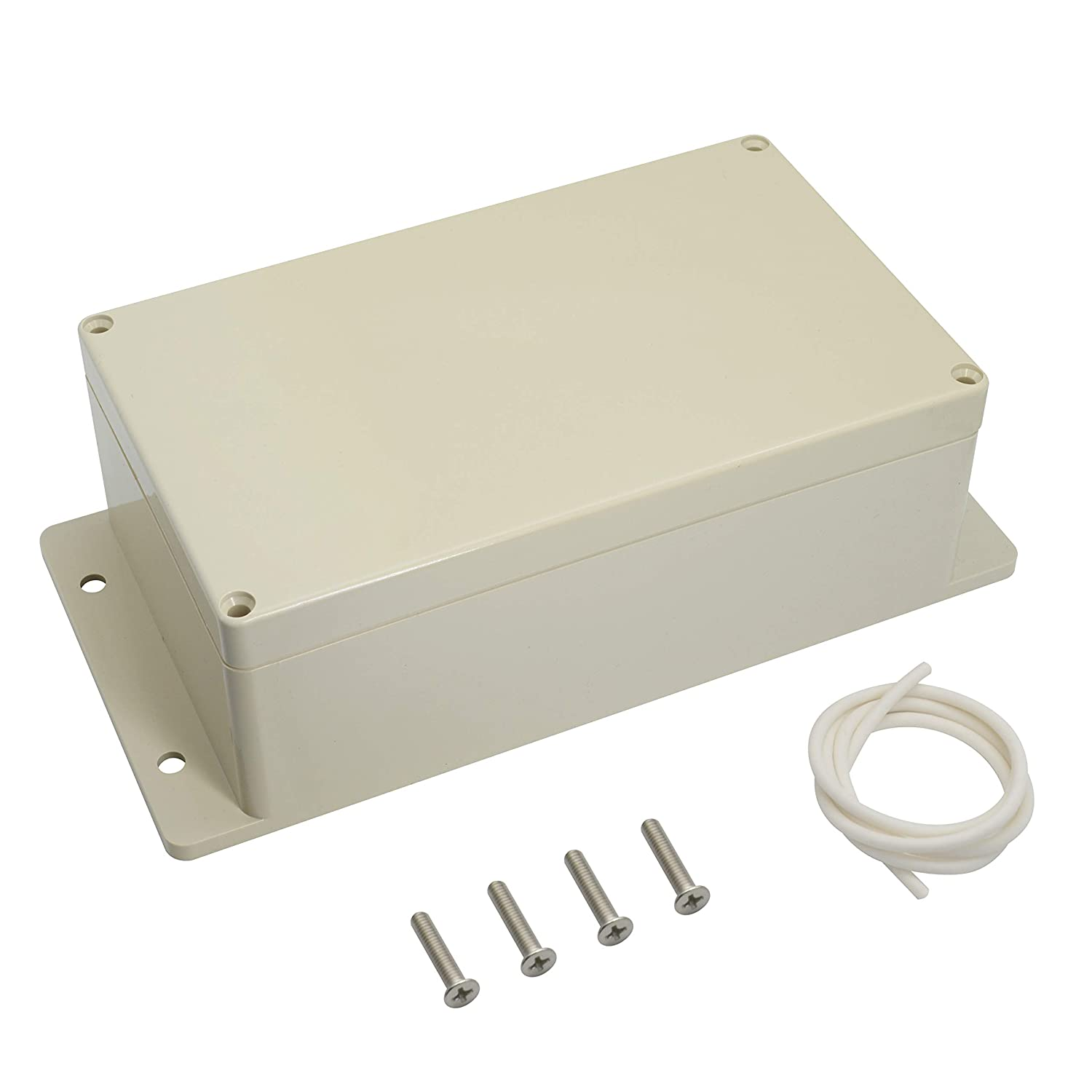 LeMotech Waterproof Dustproof IP65 ABS Plastic Junction Box Universal Electric Project Enclosure Pale Gray and Fixed Ear 7.9x4.7x2.95 200mmx120mmx75mm