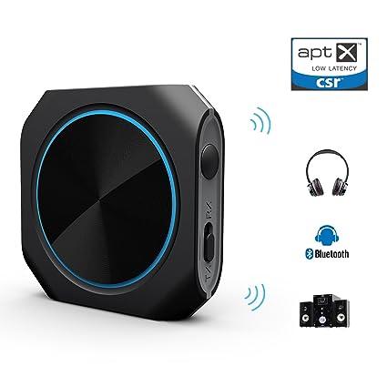 Zoweetek® Bluetooth 4.1 transmisor / Receptor AptX Baja latencia 2-en-1 y