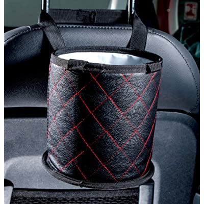 Fauchers 7'' X 7 Small Size CAR Trash CAN, Includes CAR Garbage Bags – Center Console CAR Trash Container – AUTO Trash Container for HEADREST – Luxury Style CAR Trash BIN, FIT All Vehicle.: Automotive [5Bkhe0401966]
