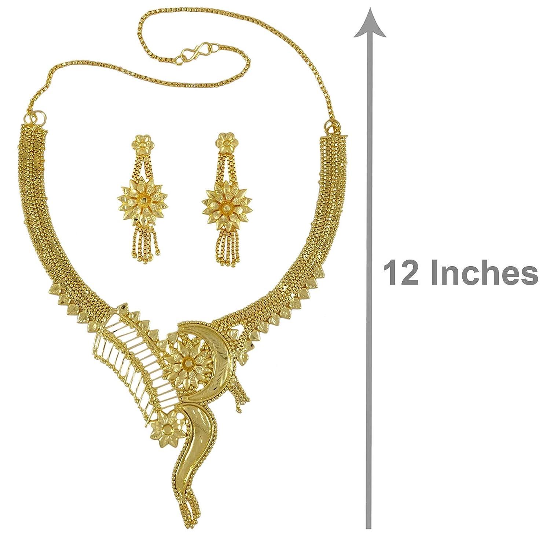 88124c8796b66 Amazon.com: Banithani Ethnic Indian Traditional 2 PC 18K Gold Plated ...