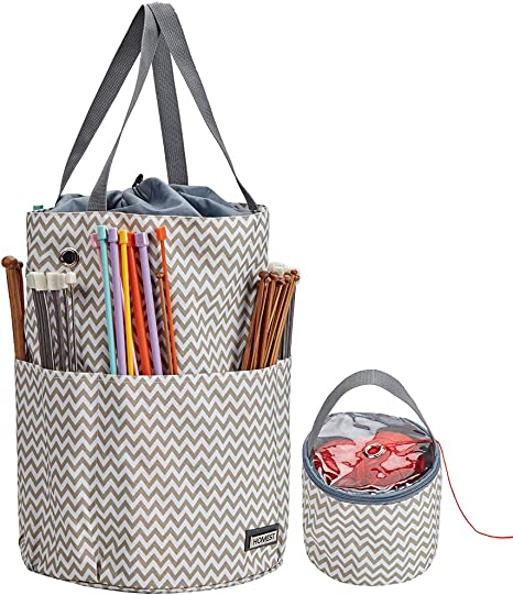 Large Knitting Organizer Crochet Tote Bag Yarn Crochet Storage Holder Bag DIY