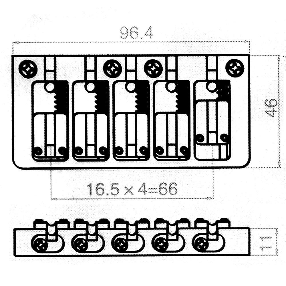 Kmise A4026 Bass Guitar Bridge by Kmise (Image #3)