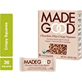 MadeGood Chocolate Chip Crispy Squares, 6 Pack (36 ct); Crispy Rice with Decadent Chocolate Chips; Nut and Gluten Free…