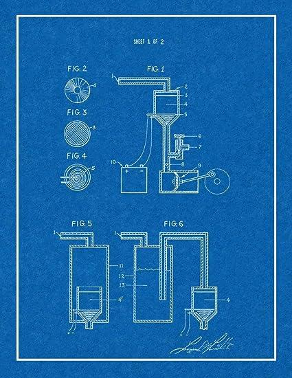 Amazoncom Smoking Pipe Patent Print Blueprint With Border 11 X