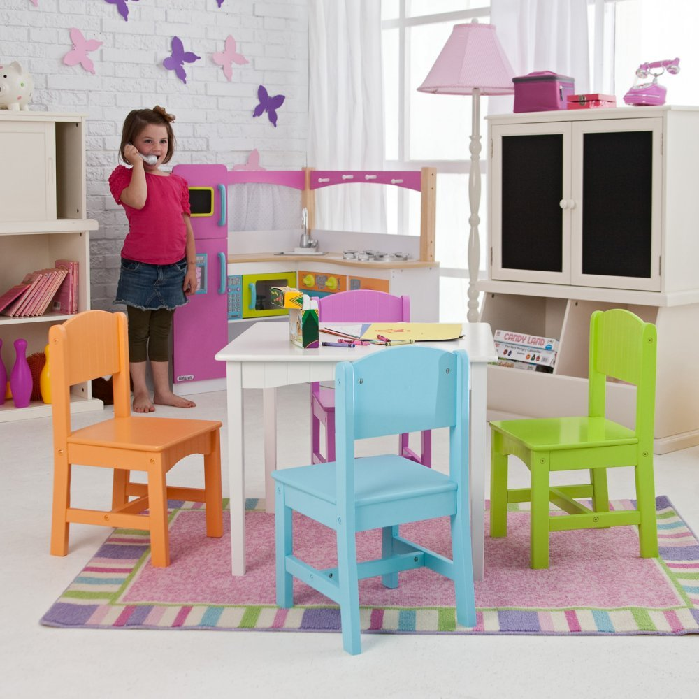 Amazon.com KidKraft Nantucket Big N Bright Table and Chair Set - 26124 Baby  sc 1 st  Amazon.com & Amazon.com: KidKraft Nantucket Big N Bright Table and Chair Set ...