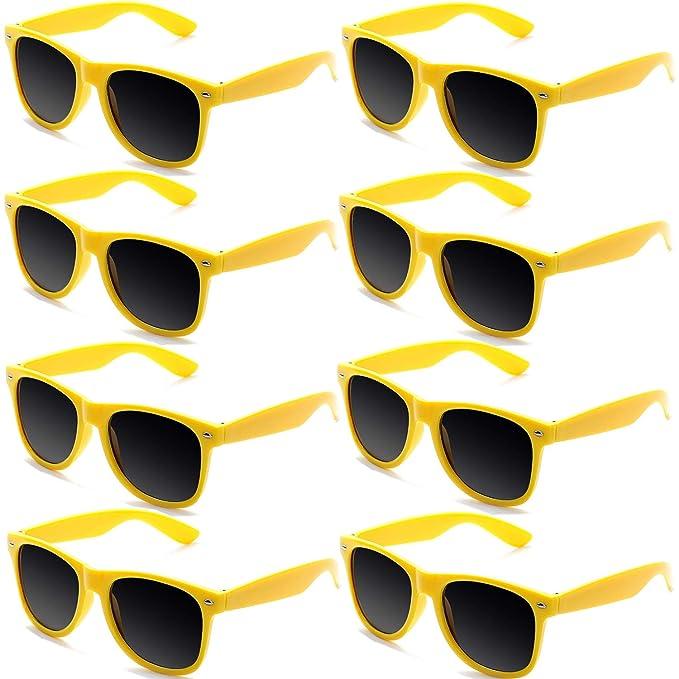Fsmiling Gafas de Sol Vintage Retro Colores de Neon Gafas de Fiesta para Mujer Hombre