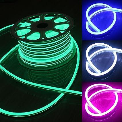 Amazon 10m 220v110v rgb neon flex light 11x19mm smd5050 ip65 10m 220v110v rgb neon flex light 11x19mm smd5050 ip65 outdoor led light string color workwithnaturefo