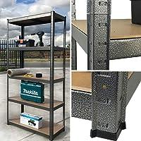 5 Shelf Steel Garage Storage Rack Shelves Metal Shelving Racking 180x90cm