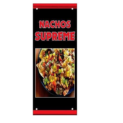 NACHOS SUPREME Food Fair Restaurant Cafe Market Vinyl Banner Sign W// Grommets