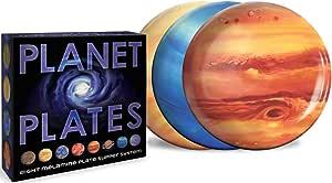 "The Unemployed Philosophers Guild Planet Plates Set - 10"" Melamine Astronomy Dinner Plates, One Size"