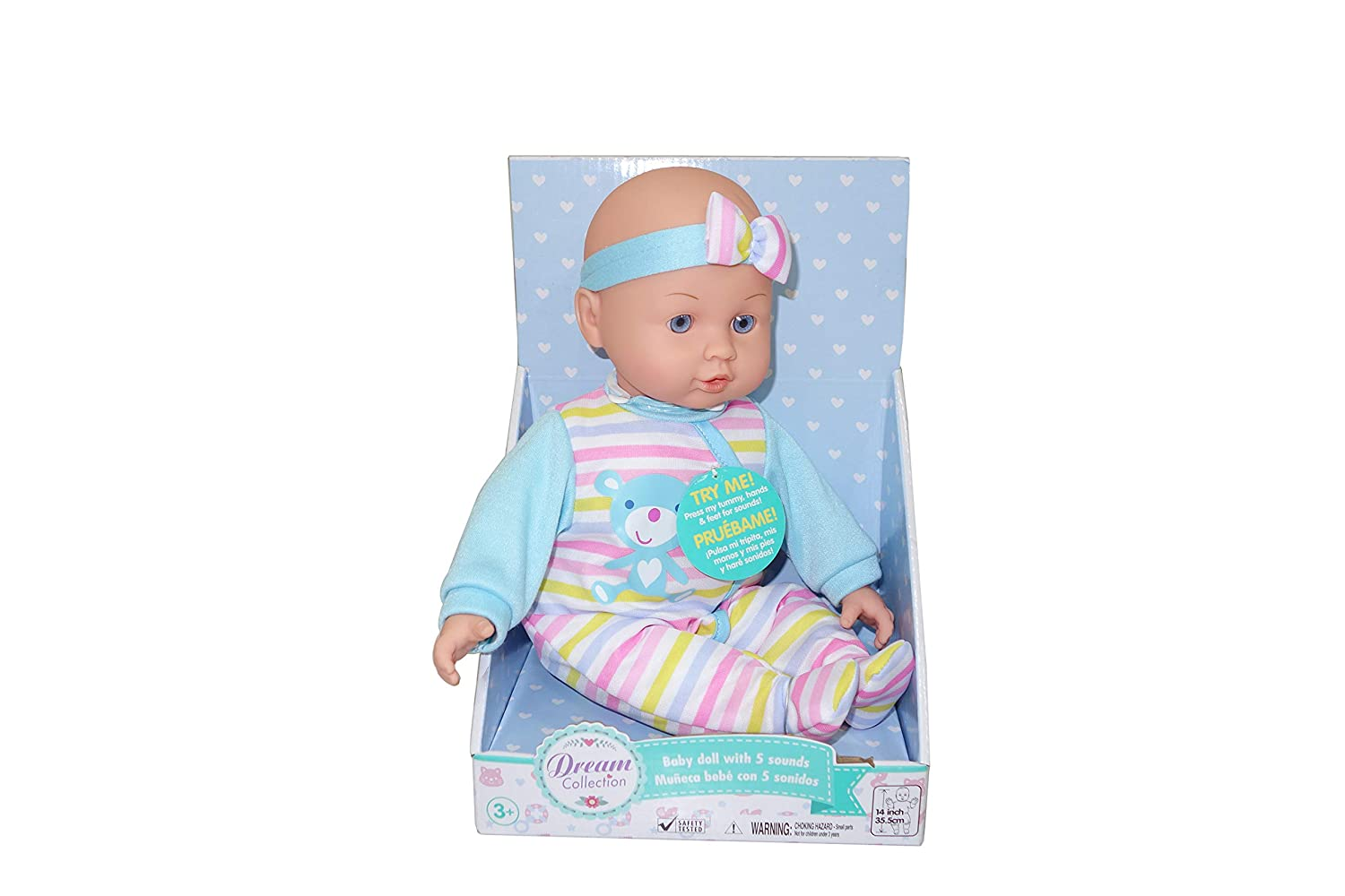 DREAM COLLECTION You & Me Chatter and Coo Baby Doll (Blue)