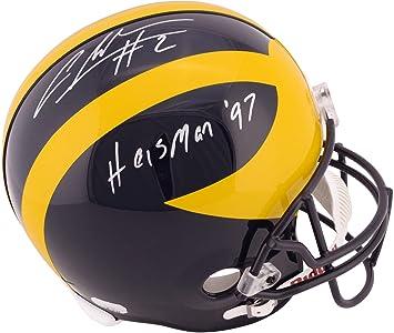 Charles Woodson Michigan Wolverines Autographed Replica Helmet with quot  Heisman 97 quot  Inscription - Fanatics Authentic 3563d03fc