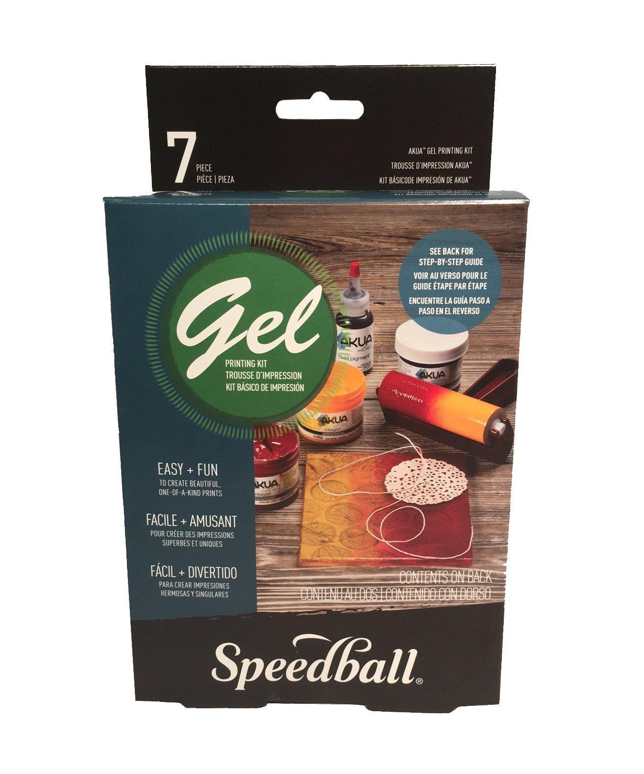 Plancha de Gel para Impresiones SPEEDBALL Kit Basico 7pc