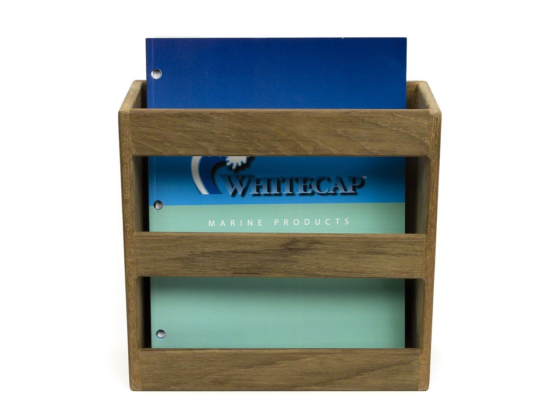 Whitecap 62504 Teak Magazine//Utility Rack Whitecap Industries