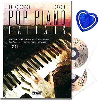 Baladas para piano, 2 CDs, las 40 mejores canciones de las últimas décadas,