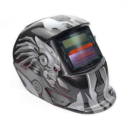 Oscurecimiento automático alimentado por energía solar TIG MIG MMA Máscara eléctrica de la soldadura Casquillo del soldador del casco Lente para la ...