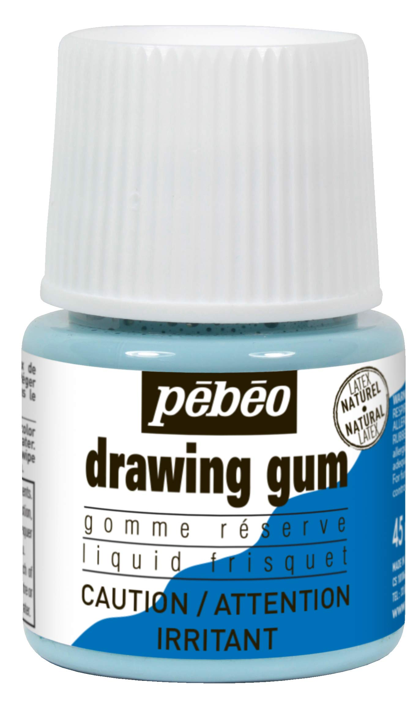 Pebeo Liquid Latex Masking Fluid Drawing Gum, 45ml/1.52oz Bottle