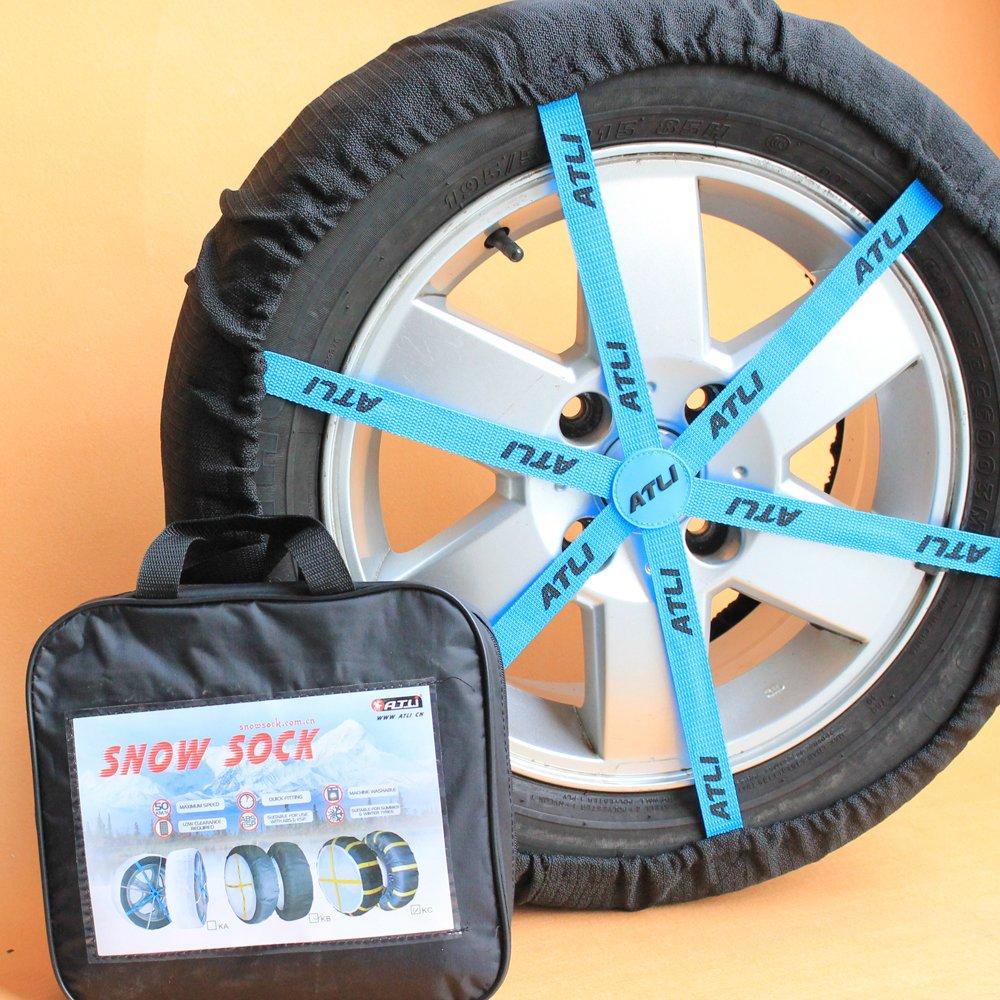 ATLI スノーソックス 布製 タイヤチェーン 他 緊急用 タイヤすべり止め オートソック タイヤ滑り止めカバー 非金属 タイヤチェーン(SC-FB78) B0778P5VK8 SC-FB78 SC-FB78