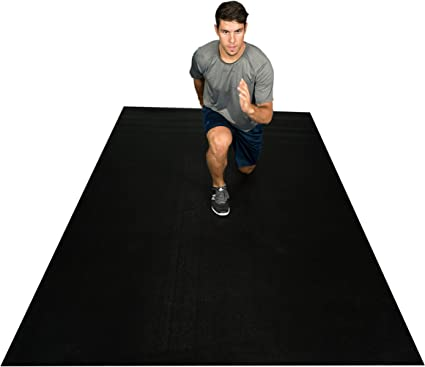 "Premium Grand Exercice Tapis 8/' x 4/' X 1//4/"" Thick Fitness Entrainement Gym Tapis Gray"