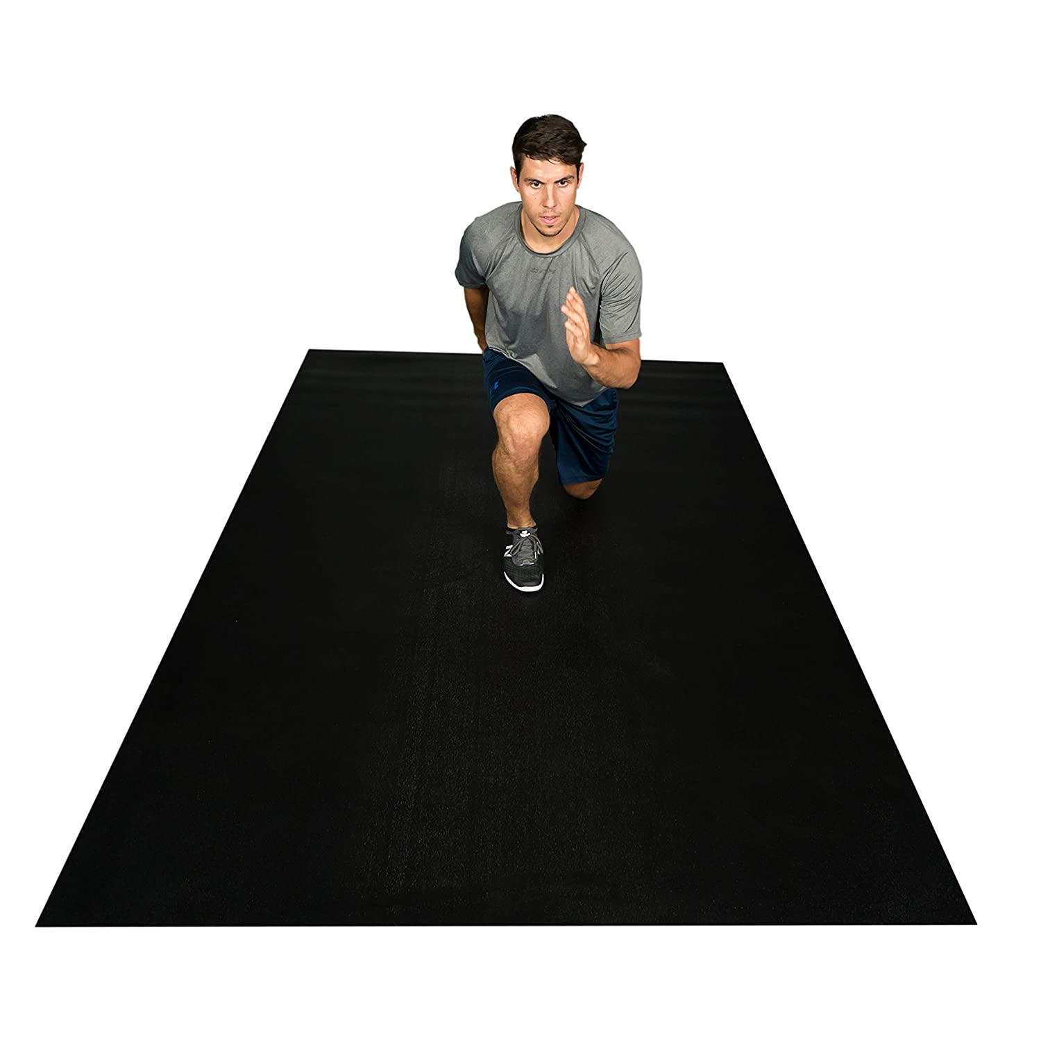 """Square36 Extra Large Exercise Mat. Made in Germany (Oeko-Tex Certified & Tested). 10' X 6' x 1/4"""". Large Home Gym Exercise Mat That Protects Floors. Perfect for Beachbody, TAM, HIIT, PLYO, Zumba."""