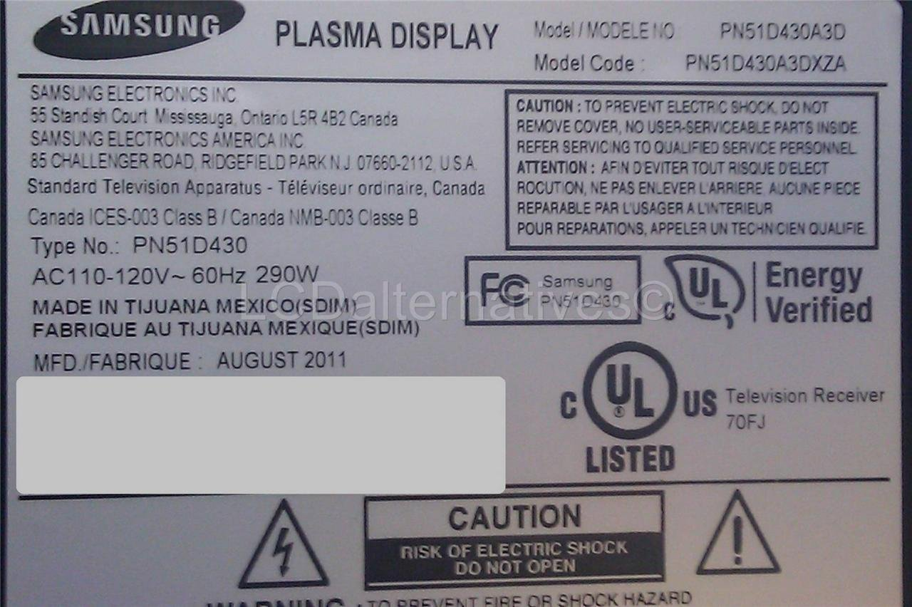 samsung pn51d430 plasma tv replacement capacitors board not rh amazon com Samsung Galaxy S Manual Samsung Galaxy S Manual