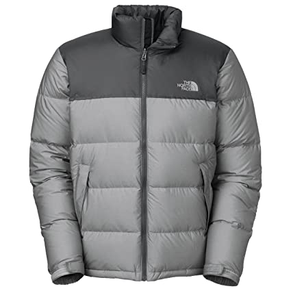 The North Face para Hombre Nuptse Abajo Chaqueta Puffer, High Rise Gris Heather/Asphalt