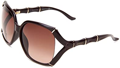 b24e039aa Gucci Women's 3508/S Rectangle Sunglasses,Aubergine Frame/Brown Gradient  Lens,One