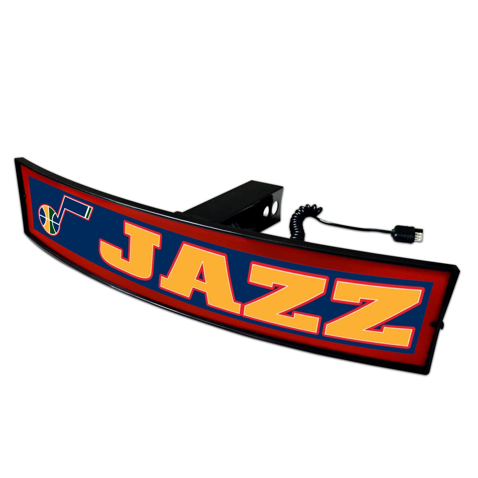 CC Sports Decor NBA - Utah Jazz Light Up Hitch Cover - 21''x9.5''