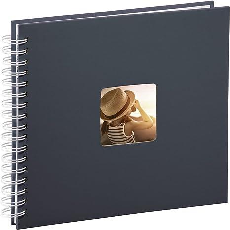 30 weiße Seiten 18,5 x 15 cm Schwarz Spiral-Album Fine Art