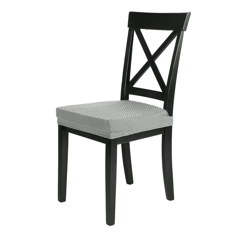 SCHEFFLER-Home Luna Felpa 2 Fundas para Asiento de sillas, Estirable Cubiertas de Asiento, extraíble elástica Funda, decoración Tela Lycra con Banda ...