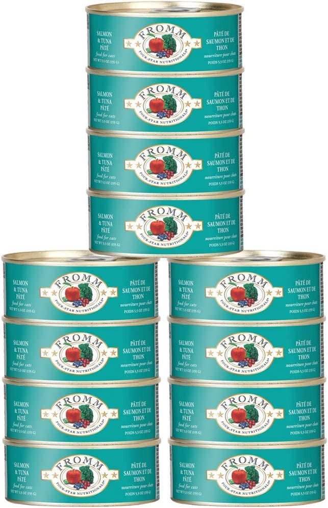 Fromm Fourstar Cat Food Canned Salmon Tuna Pate (12X5 Oz)