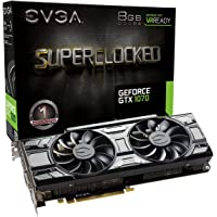 EVGA GeForce GTX 1070 SC GAMING Black Edition 8GB Graphics Card