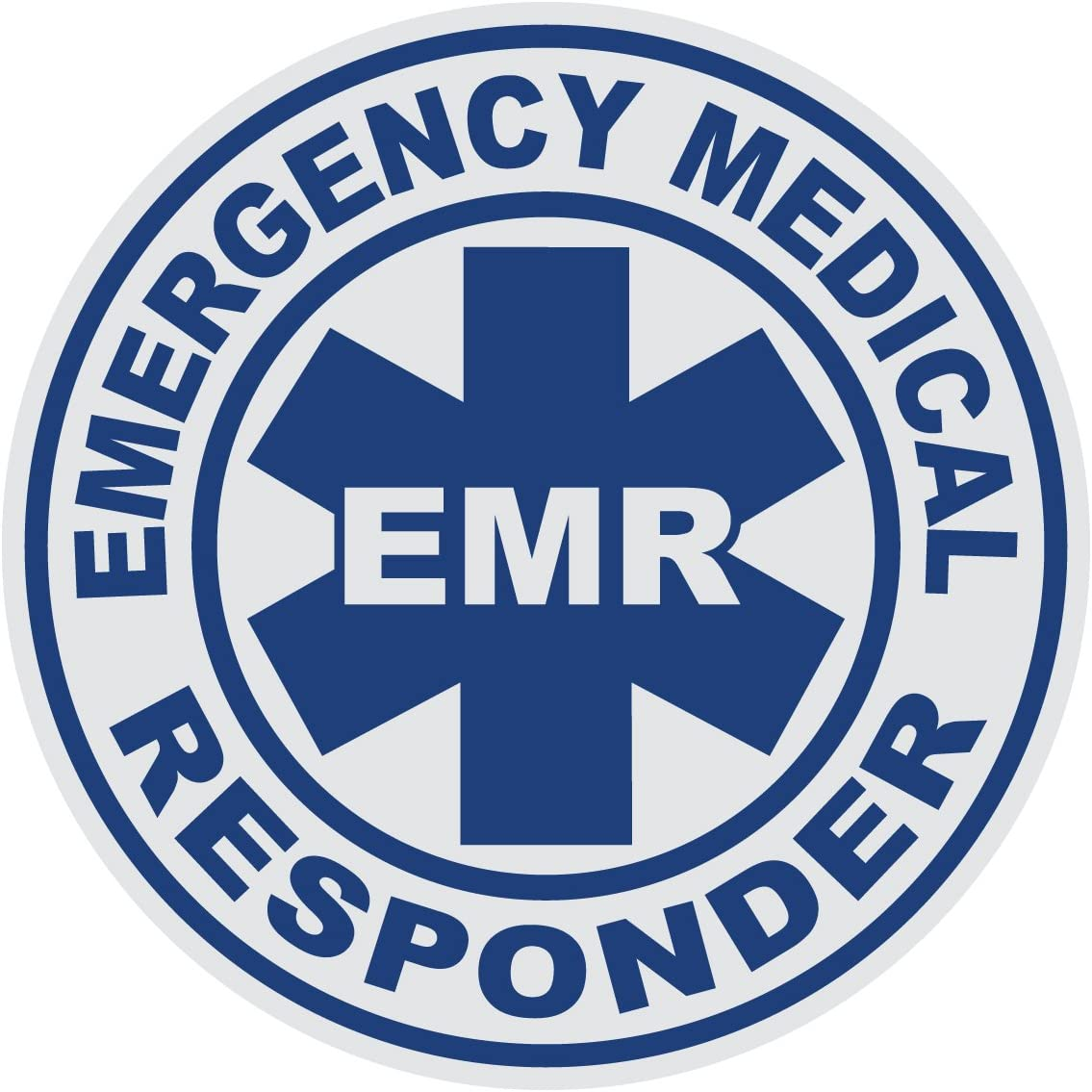 Q 02 Red Blue 911 Market EMR Emergency Medical Responder Reflective Decal Car Sticker Truck
