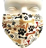 Breathe Healthy Mask - Dog Bones and Paw Prints (Adult)
