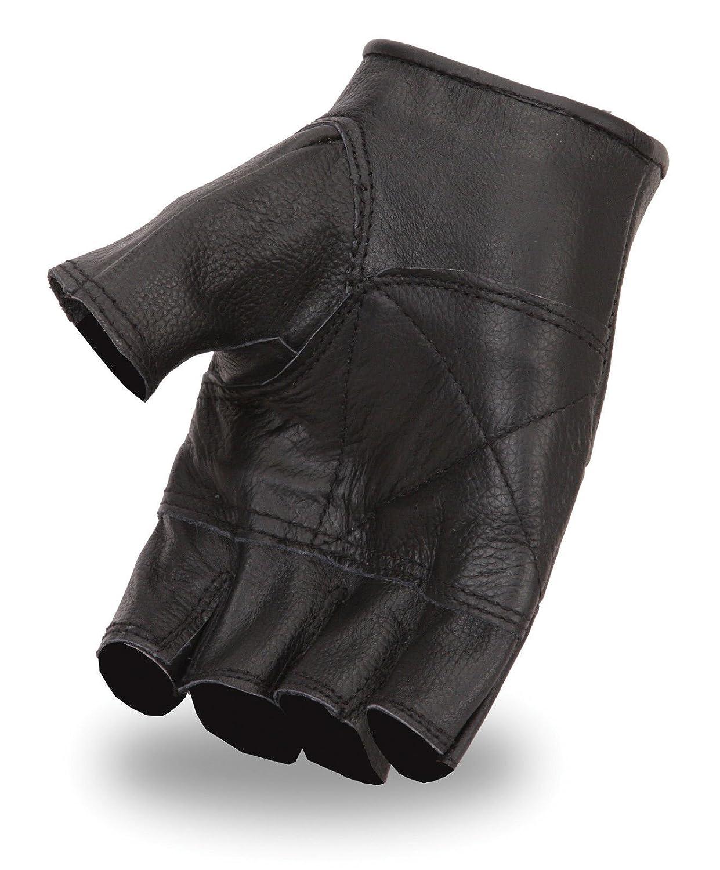 Leather gloves mens amazon - Amazon Com First Manufacturing Lightweight Fingerless Gloves Black Medium Automotive