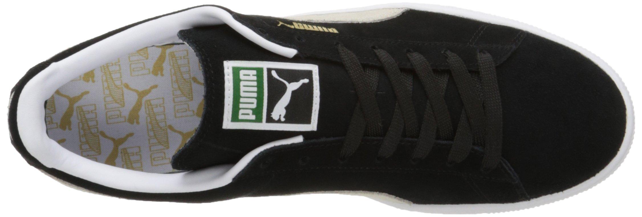 PUMA Suede Classic Sneaker,Black/White,9.5 M US Men's by PUMA (Image #11)