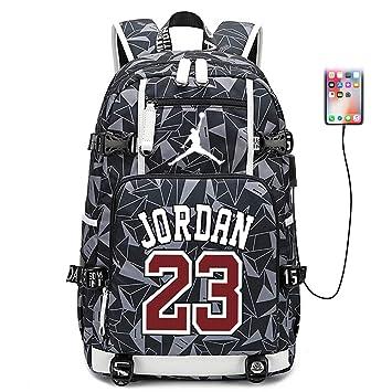 Lorhs store Jugador de Baloncesto Estrella Michael Jordan Mochila ...