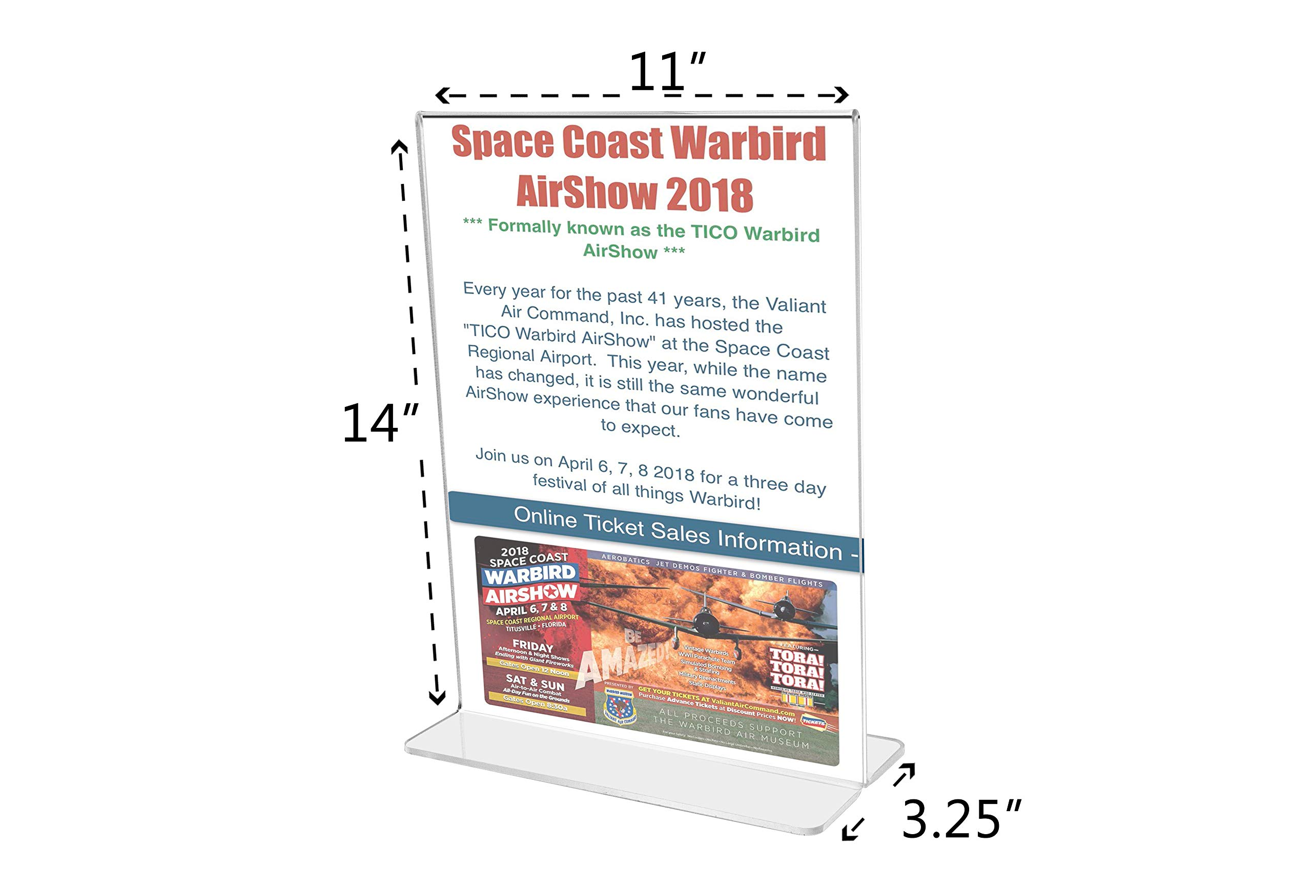 Marketing Holders Bottom Loading Flyer Frame Paper Holder Printed Material Literature Display Advertisement Holder 11''w x 14''h Pack of 30 by Marketing Holders (Image #4)