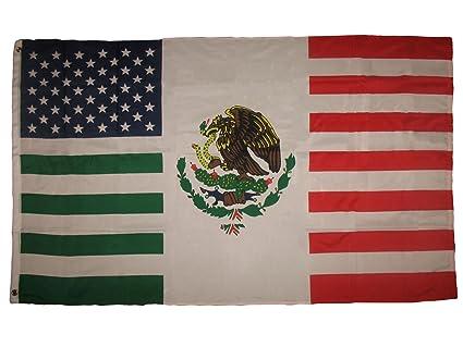 Amazon 3x5 Feet Usa Mexico Combination Flag Mexican American