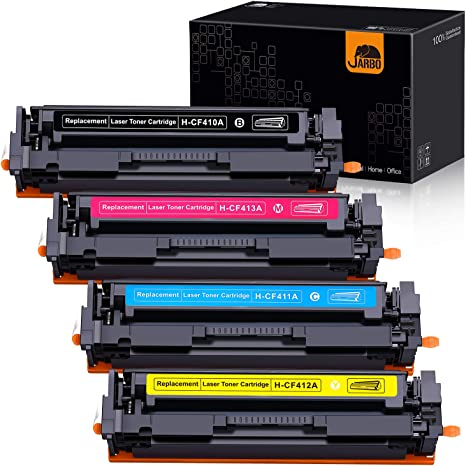 6-Pk Toner Set for HP Color LaserJet Pro M477 M477FDW M477FNW M477FDN MFP CF410A