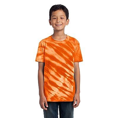 Port & Company Boys' Essential Tiger Stripe Tie Dye Tee