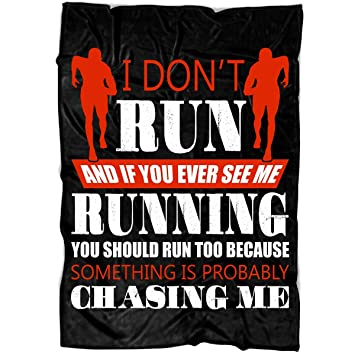 Amazon.com: TUCSTORE I Dont Run Soft Fleece Throw Blanket ...