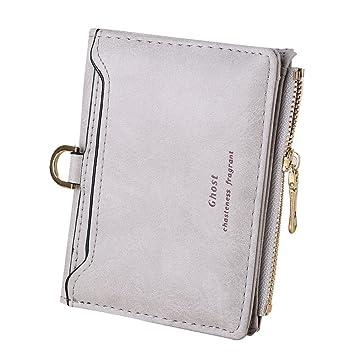 5b48a6647851fa Damen Clutch Piebo Reißverschluss Frauen Kurz Geldbörse PU Leder Geldbeutel  Frauen Klein Portemonnaie Mini Brieftasche (