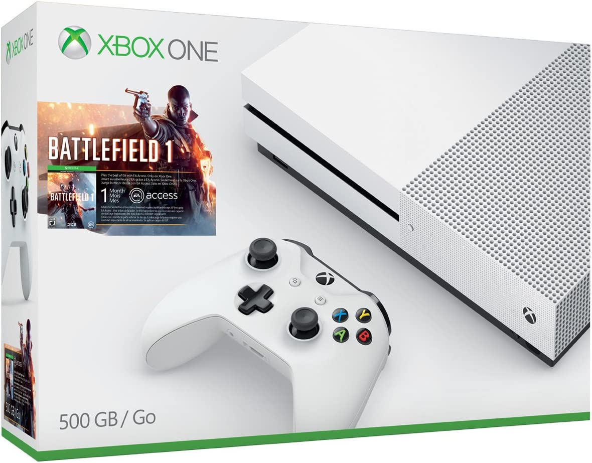 amazon com xbox one s 500gb console battlefield 1 bundle