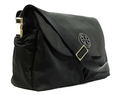 Tory Burch Black Nylon Messenger Diaper Baby Bag Amazon Co Uk Clothing