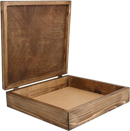 Caja de madera de colour marrón oscuro de madera de haya de la carcasa para de madera con diseño de álbumes de en tamaño XXL 2: Amazon.es: Hogar