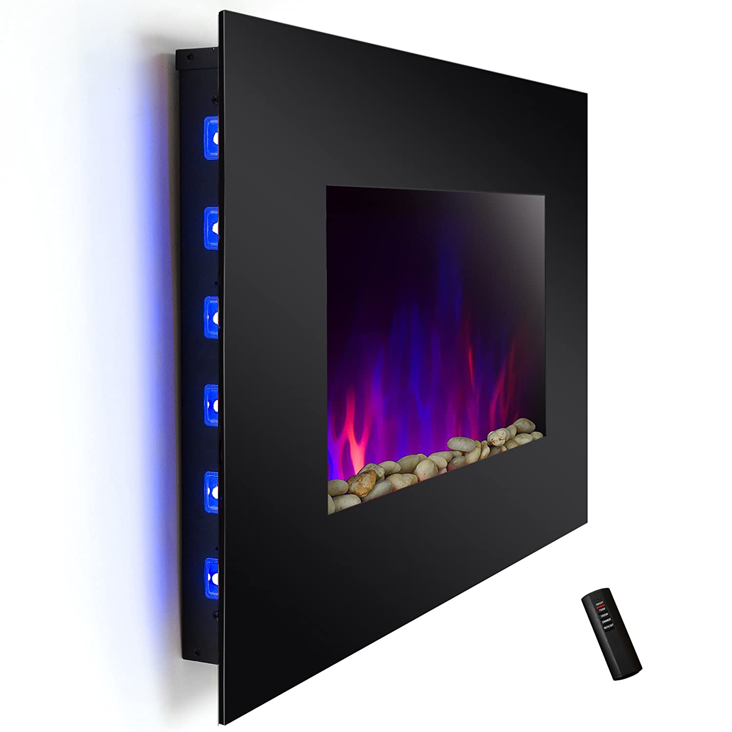 Buy AKDY 36 inch Wall Mount Electric Fireplace Space Heater With Pebble & Log / Remote: Space Heaters - Amazon.com ? FREE DELIVERY possible on eligible purchases