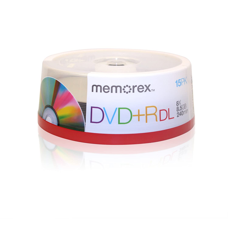 Memorex 32025715 Dual-Layer DVDplusR Discs, 8.5GB, 15-Pack B000UZN1EC