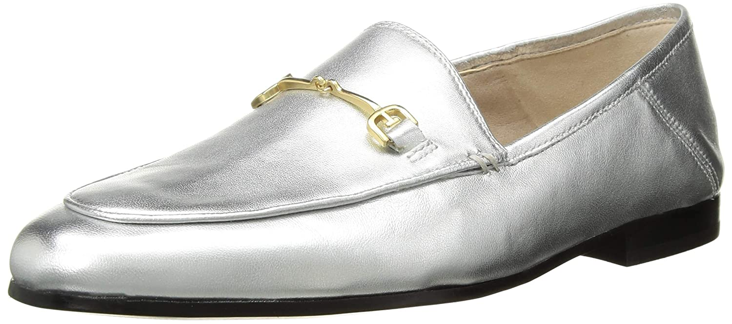 Soft Silver Metallic Leather Sam Edelman Women's Loriane Loafer Flats