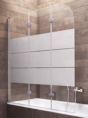 Mampara de bañera, Gris, 4056397001218: Amazon.es: Bricolaje y herramientas